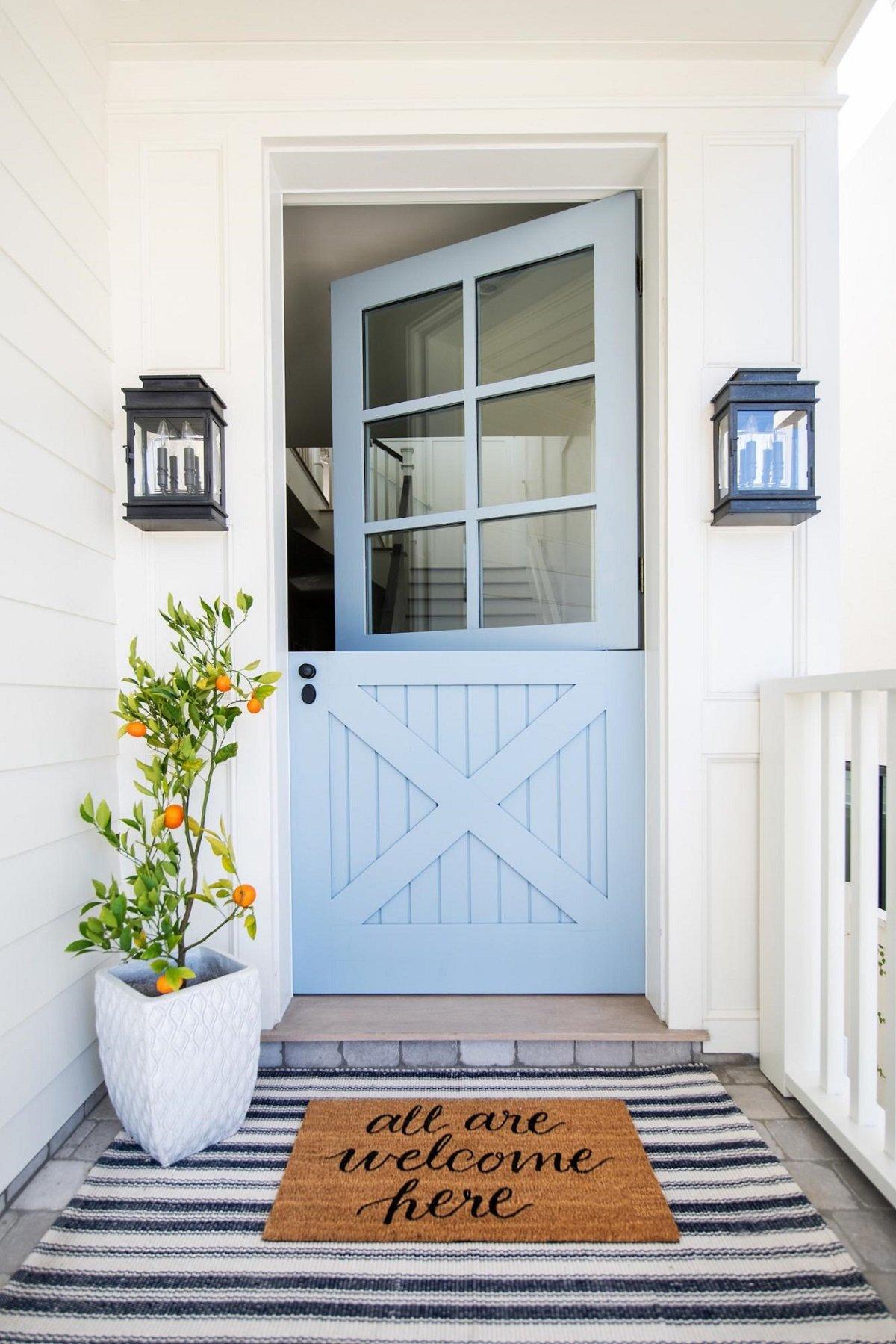 Dutch farmhouse front door with window