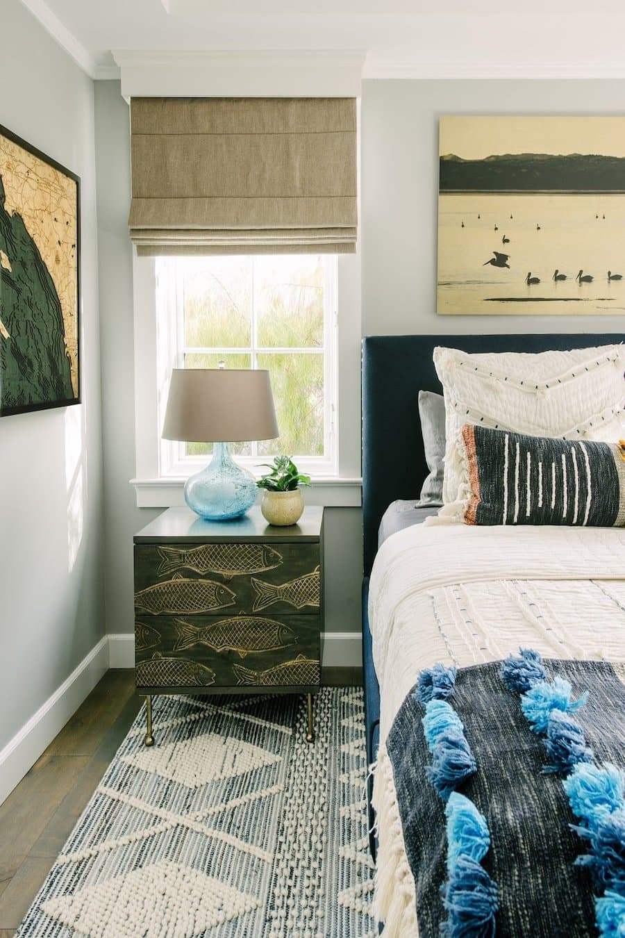nautical bedroom beach bedroom fish on dresser beach art