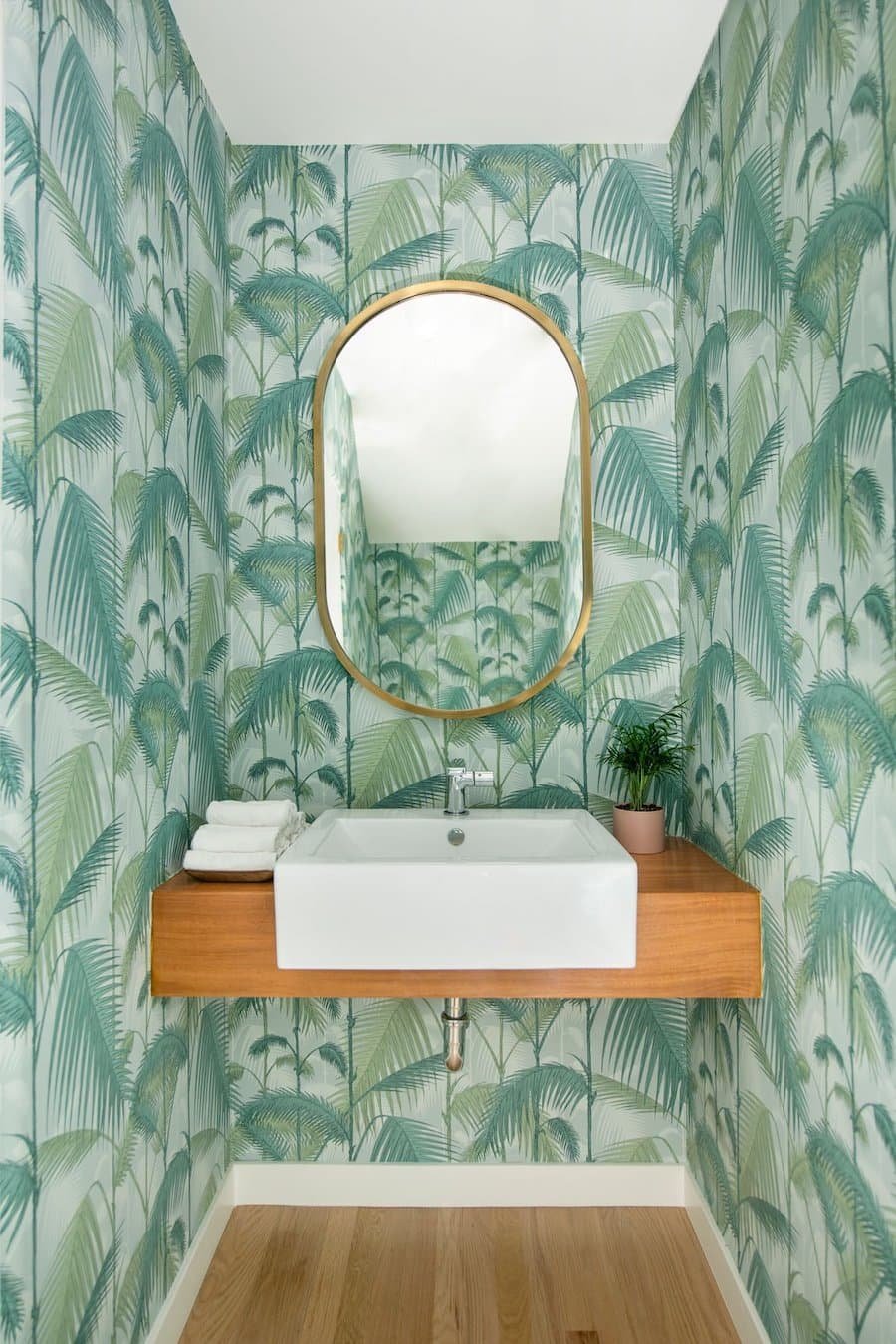 tropical wallpaper fern wallpaper beach bathroom