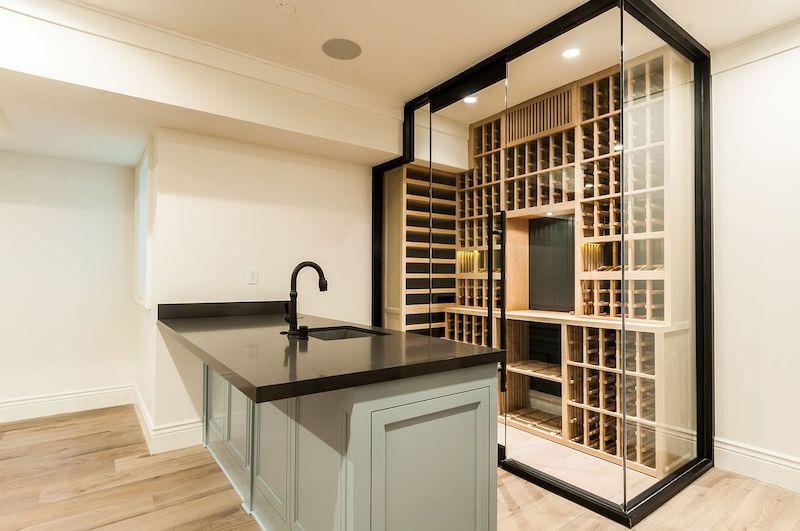 california home modern wine cellar white sands