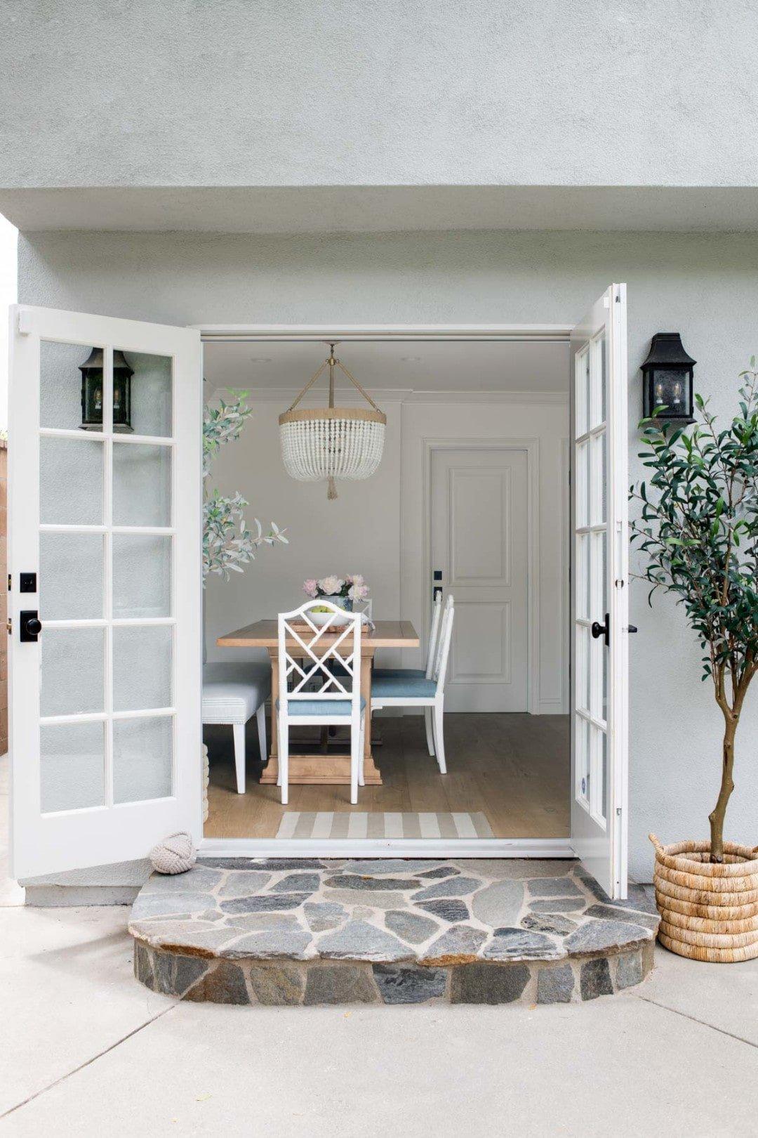 beach design kitchen opens to patio
